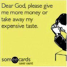 Money vs. taste