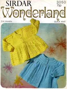 baby vintage knitting pattern jacket / matinee coats 20 in chest dk quick knit Baby Knitting Patterns, Baby Patterns, Baby Coat, Quick Knits, Sport Weight Yarn, Jacket Pattern, Vintage Knitting, Pattern Books, Jackets