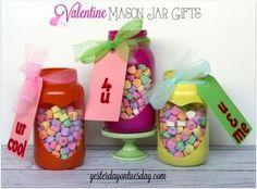 Valentine mason jar heart gifts, mason jars, seasonal holiday decor, Valentines day ideas