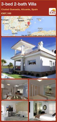 3-bed 2-bath Villa in Ciudad Quesada, Alicante, Spain ►€307,100 #PropertyForSaleInSpain