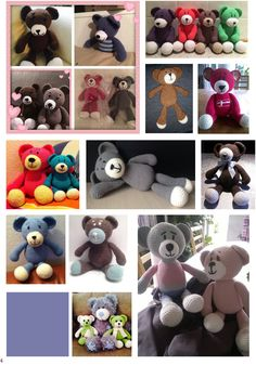 Super cute gift from Denmark girls :) Teddy Bear collage. I love all those beautiful bears :)