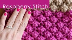 RASPBERRY Knit Stitch Pattern with Studio Knit