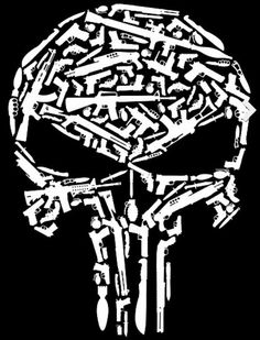 Shirt with the punisher skull made entirely out of guns in black or the punisher arsenal by sean irvin publicscrutiny Gallery