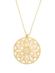 Dream Mullick Gold Snowflake Mandala Necklace <3 This looks very related to a lotus necklace I got in Rehoboth Beach several years ago.