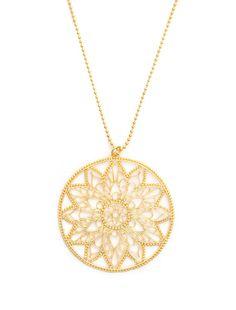 Gold Snowflake Mandala Necklace by Dream Mullic