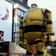 Robots shopping in downtown Japan