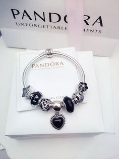 50% OFF!!! $199 Pandora Charm Bracelet Black. Hot Sale!!! SKU: CB02083 - PANDORA Bracelet Ideas