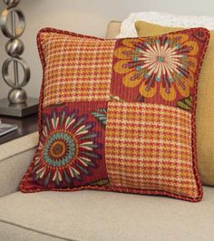 4 piece patchwork pillow project :) @HGTV HOME