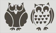 OWLS set of 2 DIY Sign Stencils   4 sizes por SuperiorStencils