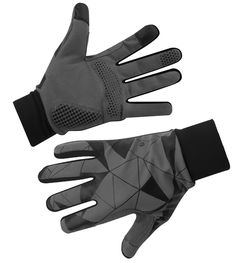 Urban Street Line - Reflective cycling gloves - lightweight - Black Full Finger Cycling Glove Bike Gloves, Cycling Gloves, Tactical Suit, Mirrors Film, Silver Fabric, Direct Lighting, Cotton Crochet, Wide Angle, Dog Walking
