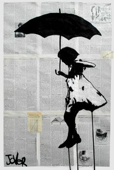 """Saatchi Online Artist: Loui Jover; Pen and Ink, Drawing """"learning to fly"""""""