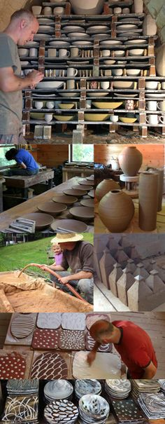 Bandana Pottery , Michael and Naomi are amazing potters as well as amazing people. Ceramic Tools, Ceramic Clay, Ceramic Artists, Ceramic Pottery, Pottery Art, Slab Pottery, Thrown Pottery, Ceramic Vase, Ceramic Workshop