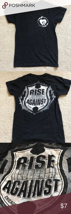 Rise Against T-shirt band shirt For fans of the Chicago Illinois band Rise Against. Well loved but very soft and comfy. Hot Topic Shirts Tees - Short Sleeve