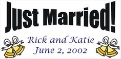 Just Married banner Welcome Home Banners, Just Married Banner, Graduation Banner, Custom Banners