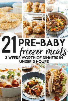 Pre-Baby Meal Prep- 21 Freezer Meals to Make - Swaddles n' Bottles