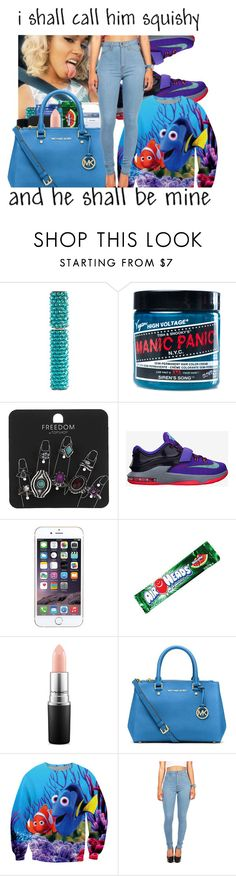 """Ratchet #2 ~ Finding Dory (Read D!!)"" by ayye-emoji-queen0 ❤ liked on Polyvore featuring beauty, Manic Panic NYC, Topshop, NYX, MAC Cosmetics and MICHAEL Michael Kors"