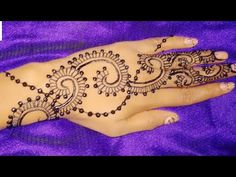 simple stylish easy mehndi henna design for hands 2017-2018