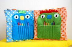 Monster totes_hold twistable crayons...special reward for students to use this.