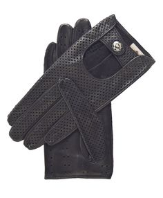 Women's Ventilated Leather Driving Gloves