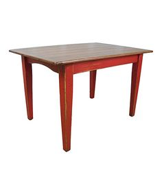 Another great find on #zulily! Sicily Red Shaker Dining Table by Fable Porch #zulilyfinds