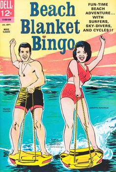 1965 Beach Blanket Bingo comic book with Frankie Avalon and Annette Funicello.