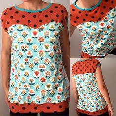 Camiseta con el patrón seronda de pandielleando