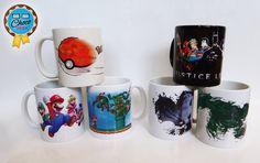 Otros de los diseños de nuestra gran variedad de tazas ☕  Video juegos, super héroes y animé...