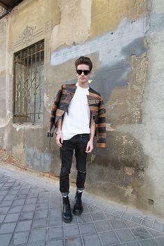 Maison Martin Margiela for H, Cos t-shirt, April77 jeans and dr. Marten boots
