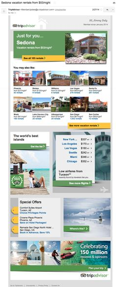 How TripAdvisor Nails Customer Relationship Management Email Marketing Strategy, Content Marketing, Digital Marketing, Customer Relationship Management, Trip Advisor, Vacation, Growth Hacking, Tech, Travel