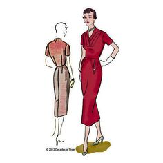 1950s Object d'Art Dress for a mid-century classic - #5007 – Decades of Style Pattern Company