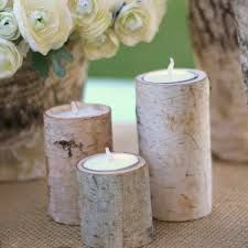 Birch tree log ctr pc T-lites set of 3 bare 5.00ea/with candles or T-lites 7.00 contact HEARTWOOD INSPIRATIONS RUSTIC DECOR RENTALS Teresa McAlister (leave message here for more info.)