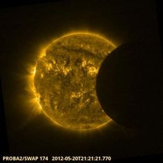 Glorious sun! (Satellites snap Solar Eclipse pictures from space.)