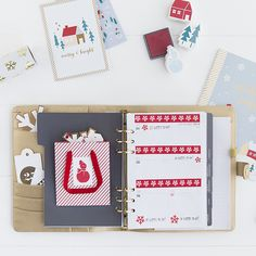 We love crafty projects and what better time of year than the holiday season to unleash your creativity. Follow these simple steps to decorate your kikki.K Planner in festive style.