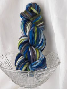 My favorite by Bare Sheep Yarn so far.  This is the softest yarn. Hand spun and hand dyed.