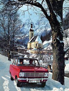 Season's Greetings!   1965 Opel Kadett Coupé in Ramsau, Bavaria.