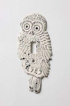 Hoot, Hoot Switchplate, Single #anthropologie