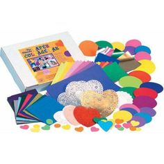 Hygloss The Ultimate Die-Cut Paper Collage Pack, Assorted Colors