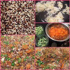 Poêlée de trio de quinoa (végétarien et sans gluten) Sans Gluten, Chana Masala, Palak Paneer, Ethnic Recipes, Food, Recipe, Meals, Yemek, Eten
