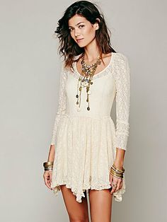 Free People Long Sleeve Lace Slip in BLACK. Worn once. Size S. Orig. $88. Limited Swap or Sell. See dress: http://www.freepeople.com/long-sleeve-lace-slip/