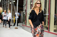 The NYFW Street Style Looks That Truly Stunned #refinery29  http://www.refinery29.com/2014/09/73987/new-york-fashion-week-2014-street-style-photos#slide77  A slouchy blouse over an anemone-like ruffed skirt.