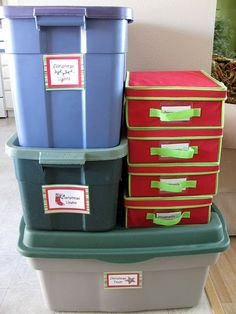 Love @Jen Jones's method of organizing Christmas stuff!