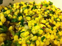 Copy Cat Recipe for Chipotles Corn Salsa:  This was super good and easy to make, and wouldn't be a real chipotle dish without it ..    Ingredients: original recipe   My tweaked version:    - 1 lb bag of frozen corn, cooked  - 1/3 bunch of cilantro, chopped finely  - 2 green jalepenos, finely diced  - 1/2 red onion, diced finely  - Juice of one lime  - Salt pepper to taste  - 1 pablano pepper, roasted in the oven, diced finely  (I was too scared it would be spicy since I've never used it…