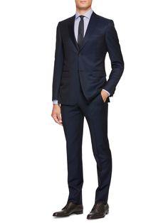 Blue Wool/Mohair Suit FW16 9895293 | Zegna