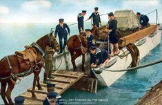 British artillery embarking for France (www.greatwar.nl)