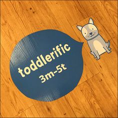 """""""Toddlerific"""" is the beginning anchor for this Toddler Floor-Graphic Breadcrumb-Trail. It teases and hints that terrific-toddler-items lie just ahead. Carters Store, Speech Balloon, Floor Graphics, Store Fixtures, Light Eyes, Bread Crumbs, Little Babies, Trail, Balloons"""