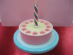 3D Origami - Cake with Candle | Origami and PaperCraft – Origami Paper Club