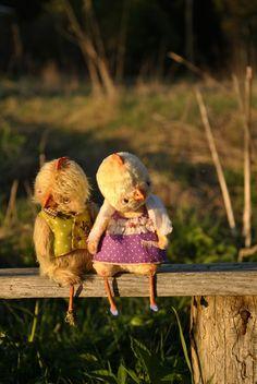 Купить Петушок Тихон.Друзья Тедди - желтый, песочный, зеленый, сиреневый…
