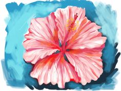 Learn How to Draw a Hibiscus Flower From Memory - YouTube