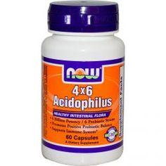Now Foods, 4X6 Acidophilus, 60 Capsules, Diet Suplements 蛇