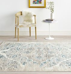 Distressed Ivory Floral Oriental Traditional Area Rugs 5x8 8x11 - Bargain Area Rugs